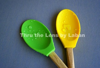 Kitchen Spoons with Water Drops Stock Photo #133
