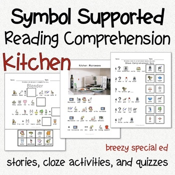 Kitchen - Symbol Reading Comprehension for Autism / Special Ed #homepacket