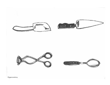 Kitchen Tools & Cookware B&W Clip Art