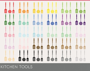 Kitchen Tools Digital Clipart, Kitchen Tools Graphics, Kit