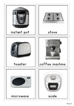 Kitchen Tools Vocabulary Photo Flashcards for Special ...