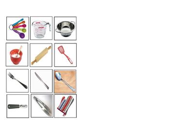 Kitchen Tools: I can identify kitchen tools