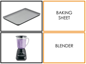Kitchen Tools - Matching Activity