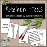 Kitchen Tools Picture and Term Cards for Adult Speech Therapy