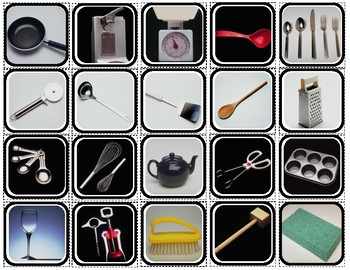 """Kitchen Tools"" Reality Squares for Autism"