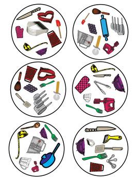 Kitchen Tools Spot It Game