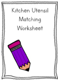 Kitchen Utensil Worksheet