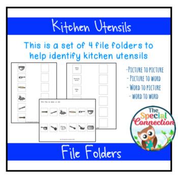 Kitchen Utensils Adapted Book and File Folder Bundle