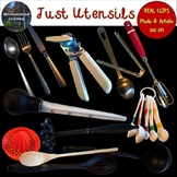 Kitchen Utensils Clip Art Photo & Artistic Digital Stickers