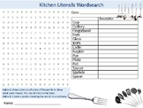 Kitchen Utensils Food Wordsearch Puzzle Sheet Keywords Sci