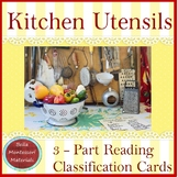 Kitchen Utensils - Montessori 3 - Part Cards