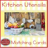 Kitchen Utensils -  Montessori Matching Cards