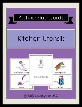 Kitchen Utensils Picture Flashcards