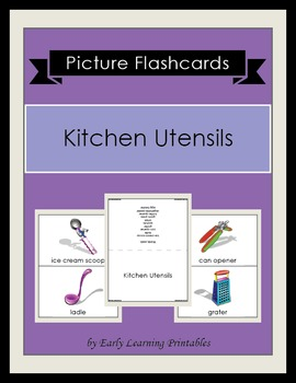 Kitchen Utensils Picture Flashcards