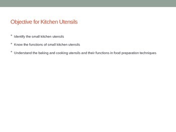 Kitchen Utensils Power Point, Utensils Card Match Activity, Name that Utensil