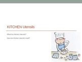 Kitchen Utensils Power Point, Utensils Card Match Activity