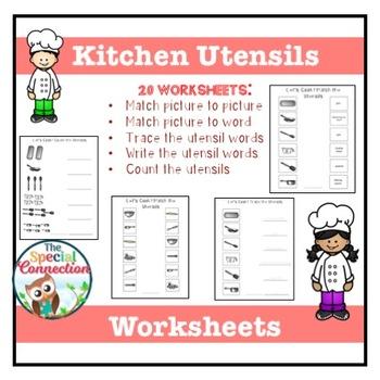 Kitchen Utensils: Worksheets