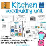 Kitchen Vocabulary Life Skills Unit (Special Education)