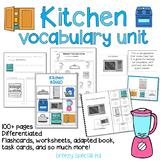 Kitchen Vocabulary Life Skills Unit (Special Education)