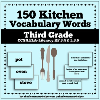 Kitchen Vocabulary Unit: Third Grade