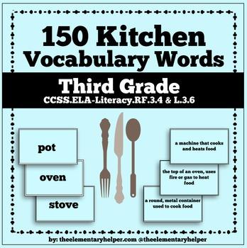 Kitchen Vocabulary Unit: Third Grade