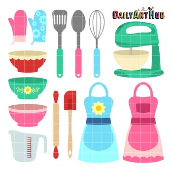 Kitchen Wares Clip Art - Great for Art Class Projects!