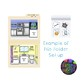 Kitchen and Bathroom File Folder Matching Activity