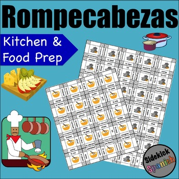Kitchen and Food Prep Vocabulary Puzzles (Así Se Dice Chapter 10 Spanish)