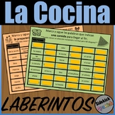 Kitchen and Food Preparation Mazes in Spanish