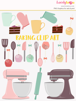 Kitchen baking clipart, cake pops, home cook clip art (LC24)