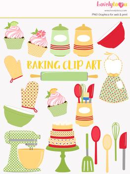 Kitchen baking clipart, home cook clip art (LC21)