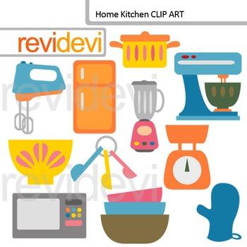 Kitchen clip art: kitchen utensils and appliances