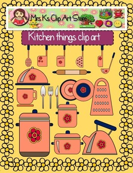 Kitchen things clip art