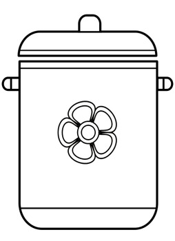 Kitchen things coloring pages