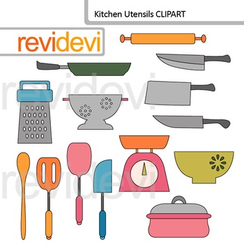 Kitchen utensils clip art