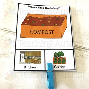 Kitchen v Garden / Yard Sorting Categories Task Cards