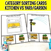 Sorting Categories Rooms in the House Task Cards