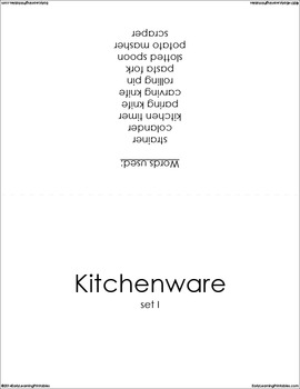 Kitchenware (set I) Picture Flashcards