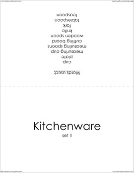 Kitchenware (set II) Picture Flashcards