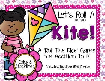 Kite Addition to 12 Math Center