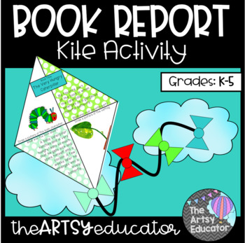 Kite Book Report Spring Craftivity!