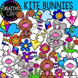 Kite Bunnies {Creative Clips Clipart}