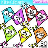 Kite Clipart {Cute Kite Faces Clip Art} Emoji