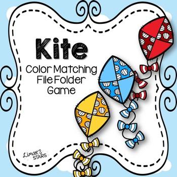 Kite Color Matching File Folder Game