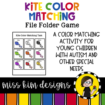 Kite Colors Matching Folder Game for Early Childhood Special Education