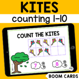 Kite Counting 1-10 Boom Cards : Spring Math Boom Cards