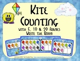 Kite Counting with 5, 10 & 20 Frames {Subitizing}
