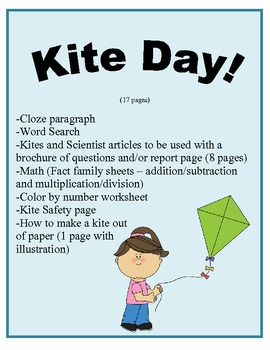 Kite Day for grades 4-6 (17 pges)
