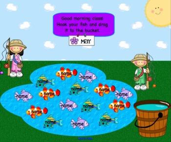 Kite & Fish May Attendance Interactive Smartboard Morning