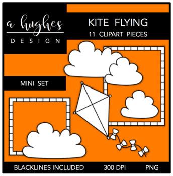 Kite Flying Mini Clipart Bundle {A Hughes Design}